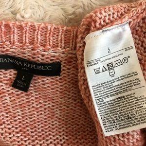 Banana Republic Factory Sweaters - Banana Republic Pink V-Neck Sweater L